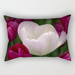 One White Tulip Rectangular Pillow