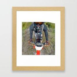 Enduro Puddle Framed Art Print