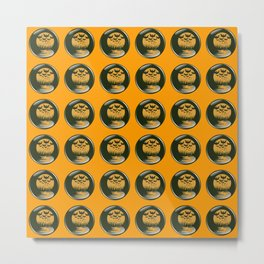 Bats and moon buttons for Halloween Metal Print