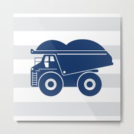 Dump truck stripe Metal Print