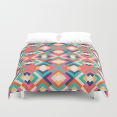 Colorful Geometric Duvet Cover
