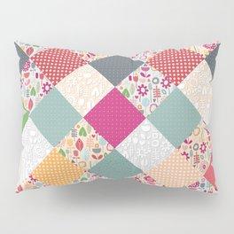 paper cut flower diamonds Pillow Sham