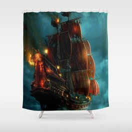 Pirates on sea Shower Curtain