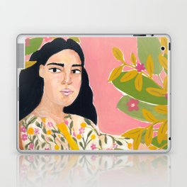 Floral Lady Laptop & iPad Skin