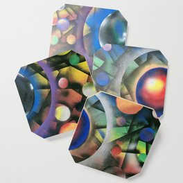 Colorful Cosmos Coaster