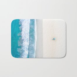 California Beach Aerial View Bath Mat