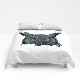 Horned Owl by Night Comforters