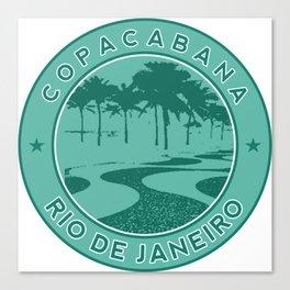 Copacabana beach, green circle, Rio de Janeiro, Brazil Canvas Print