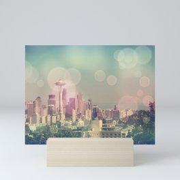 Dreamy Seattle Skyline Mini Art Print