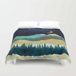 Snowy Night Duvet Cover