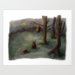 Not the bees! Art Print
