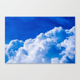 White clouds in the blue sky Canvas Print