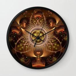 Copper Cosmos Wall Clock