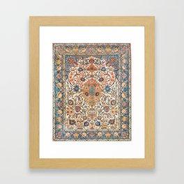 Isfahan Antique Central Persian Carpet Framed Art Print