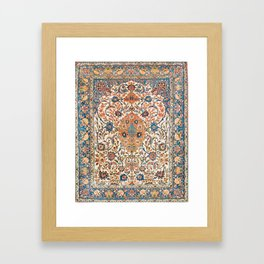 Isfahan Antique Central Persian Carpet Print Framed Art Print