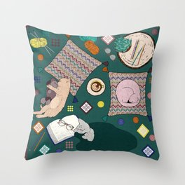 Hygge Kitten Throw Pillow