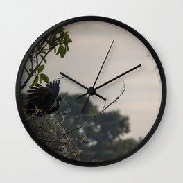 Birds from Pantanal Carão Wall Clock