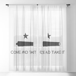 Texas Come and Take it Flag Sheer Curtain
