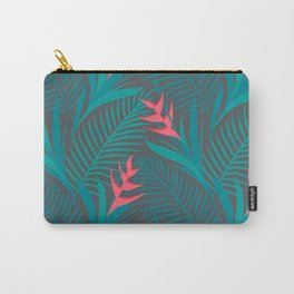 Tropical Flowers - Grey Carry-All Pouch