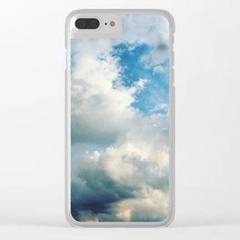 In the Clouds Clear iPhone Case
