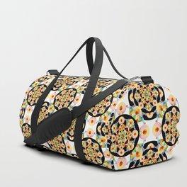 Pastel Carousel Black Dot Pattern Duffle Bag
