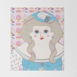 Marie Antoinette Throw Blanket