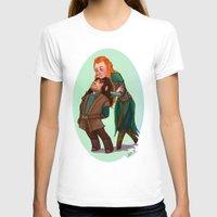 kili T-shirts featuring Tauriel and Kili by Hattie Hedgehog