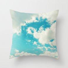 Teal Sky Throw Pillow