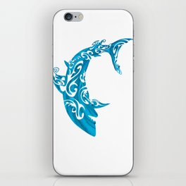 Shark Dive Watercolor Save A Shark iPhone Skin