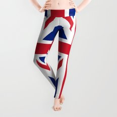 UK FLAG - The Union Jack Authentic color and 3:5 scale  Leggings