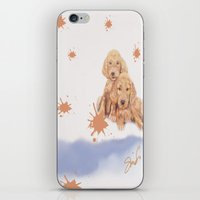 puppies iPhone & iPod Skins featuring Puppies by Nancy Smith