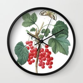 HIGHEST QUALITY botanical poster of Redcurrant Wall Clock