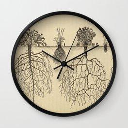 Botanical Roots Wall Clock