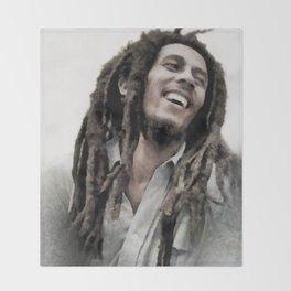 Marley, Music Legend Throw Blanket