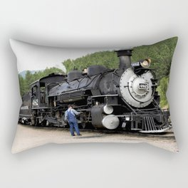 Stop at the Rockwood Depot Rectangular Pillow