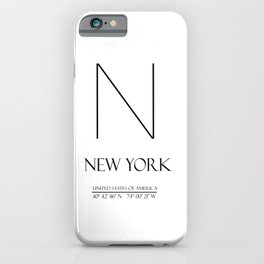 New York City Coordinates N1009  iPhone Case