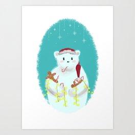jolly Christmasbear Art Print