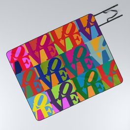 Love Pop Art Picnic Blanket