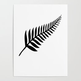 Silver Fern of New Zealand Poster