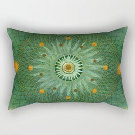 """Celestial Vault Mandala"" Rectangular Pillow"