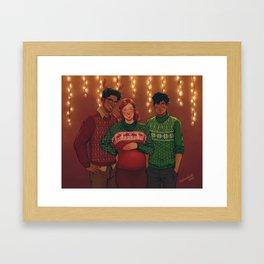 Christmas Portrait Framed Art Print