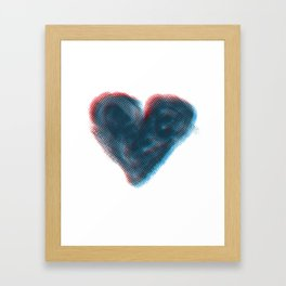 Red and Blue Heart Framed Art Print