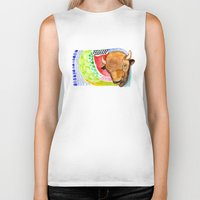 buffalo Biker Tanks featuring BUFFALO by dorc