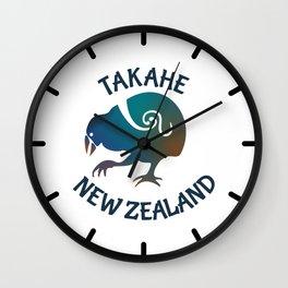 TAKAHE New Zealand Native bird Wall Clock