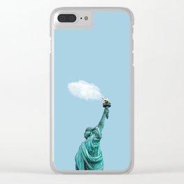 Le Petit Cloud - Cloud of Liberty Clear iPhone Case