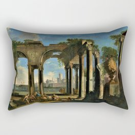 Giovanni Paolo Pannini's Masterpiece: Apostle Paul Preaching in Campagna Rectangular Pillow