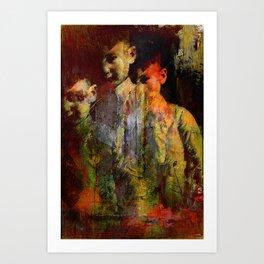 The ghost of the son Olsen Art Print