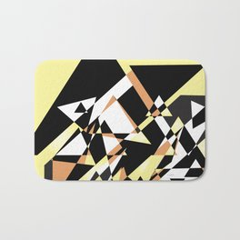 Mountain Peaks On Yellow Bath Mat