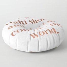 Rose gold shoe love Floor Pillow