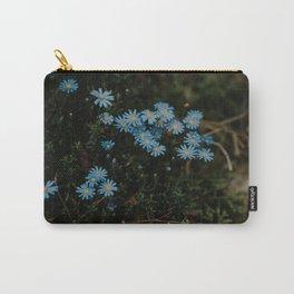 Little blue flowers   fine art botanical print Carry-All Pouch